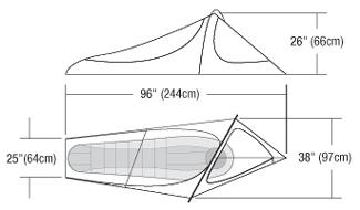 Mesh Bivy Diagram