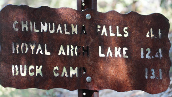 metal trail sign
