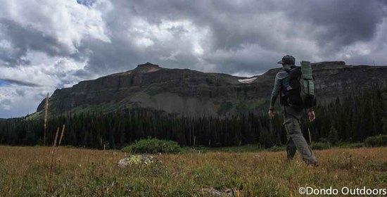 hiker at derby peak