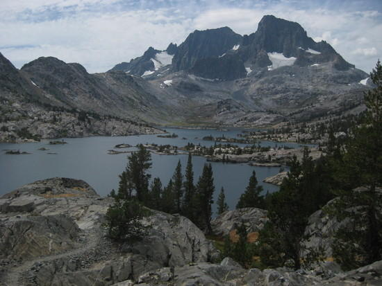 Thousand Island Lake with Mt Ritter and Banner Peak
