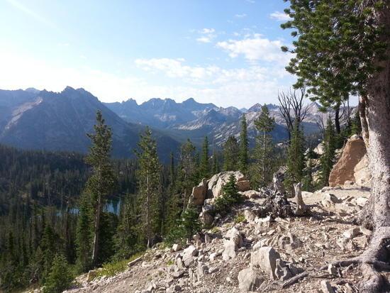 Cramer Lakes Basin from Baron Divide