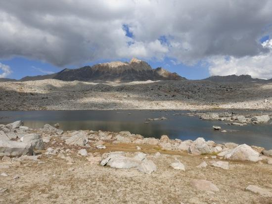 Passing Lower Desolation Lake on the way to Mesa