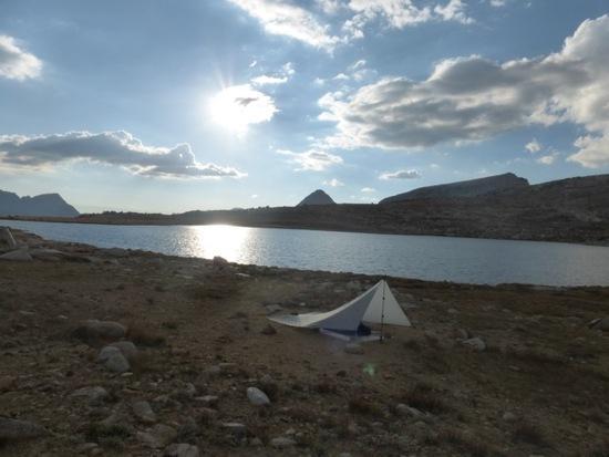 First night's camp on Mesa Lake