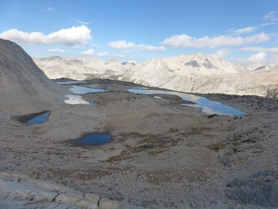 Great views of Puppet Lake from Puppet Pass