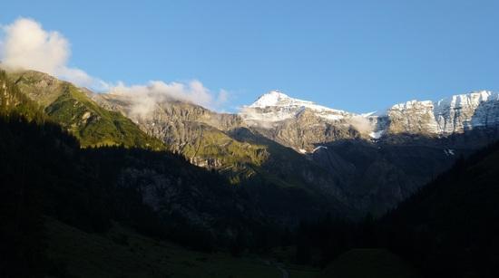 fresh snow on the mountains