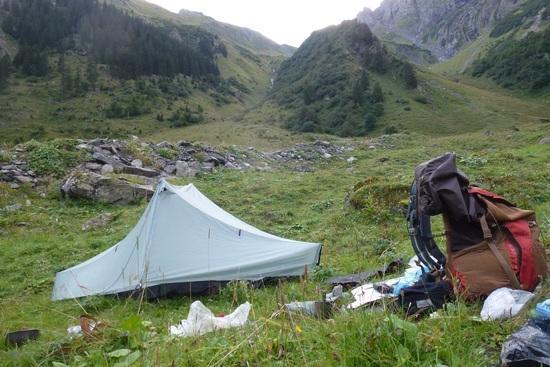 camp before Richetlipass