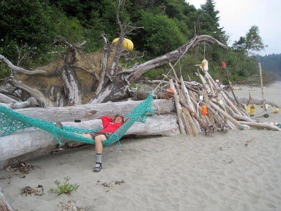 Fish net hammock