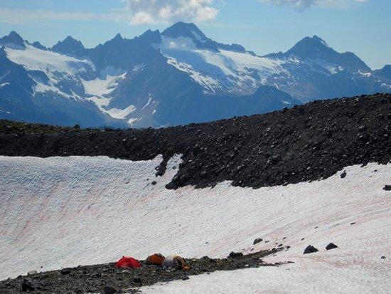 View of climber's camp
