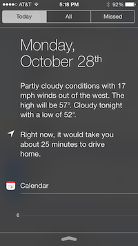 iPhone knows my routine