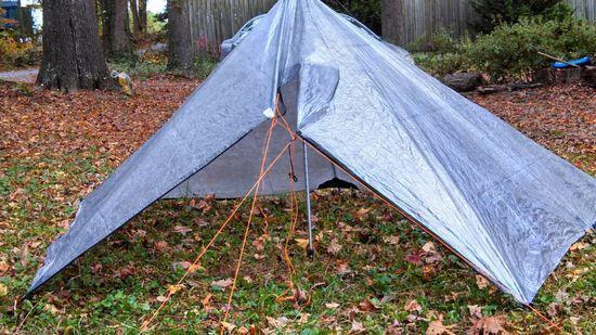 front of poncho-tarp