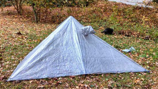 back of poncho tarp