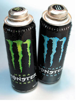 energy drink bottles