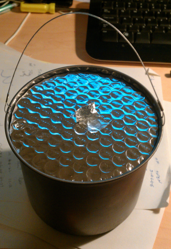 pot with reflectix lid