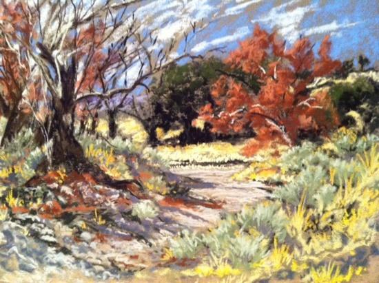Desert wash in Fall