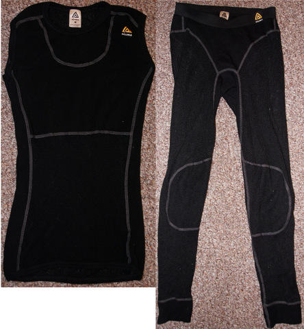 Womens Aclima Wool Mesh Top and Bottom