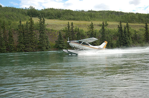 Flying out from Kluane Lake