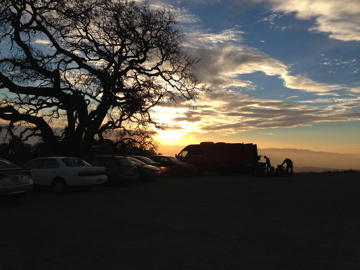 Henry Coe parking lot sunset