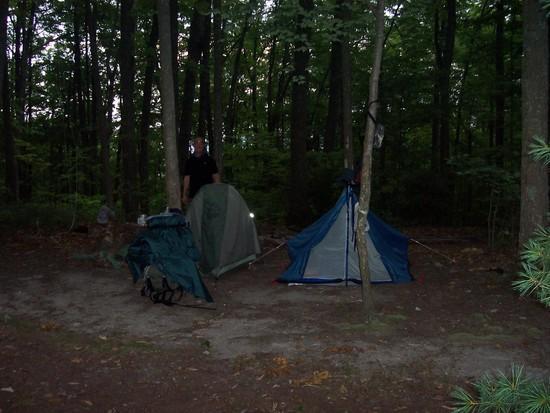Blue pup tent