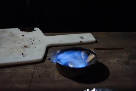 Hand Sanitzer in Flat Cat Alcohol Stove