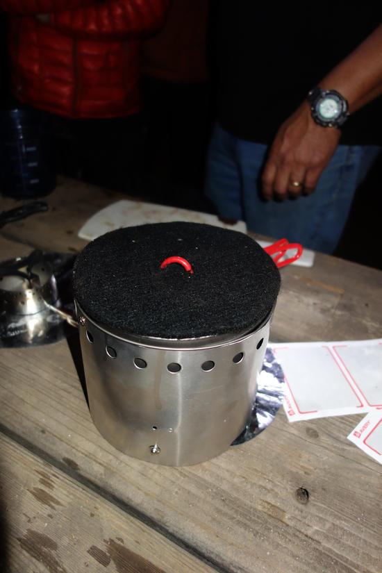 Carbon Felt Hat as Insulation for Pot