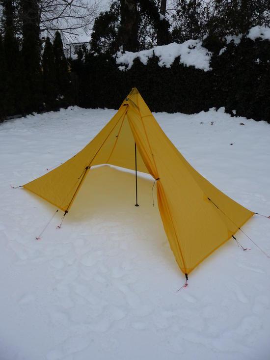 Tent door open