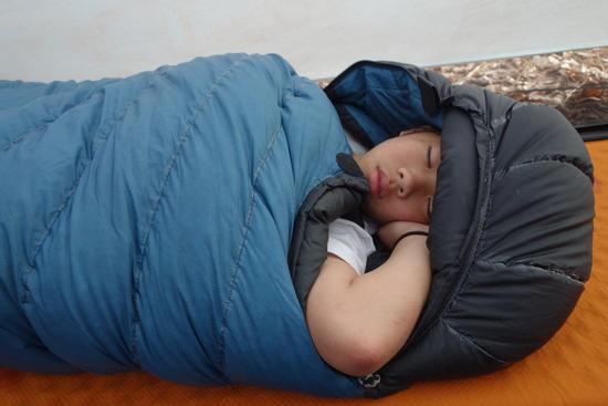 Mei-Ling sleeping in