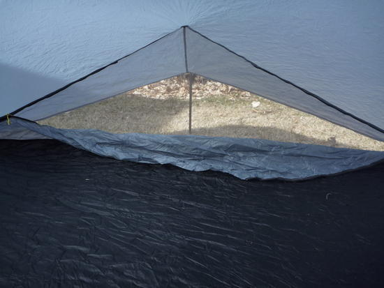 AGG Tarptent, inside showing rear vent