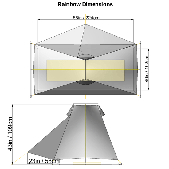 Tarptent Rainbow dimensions