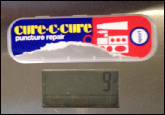 Puncture repair container