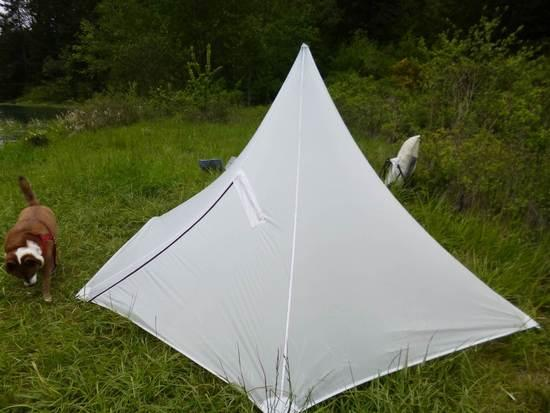 5 Sided Pyramid Tent Almost Done Backpacking Light