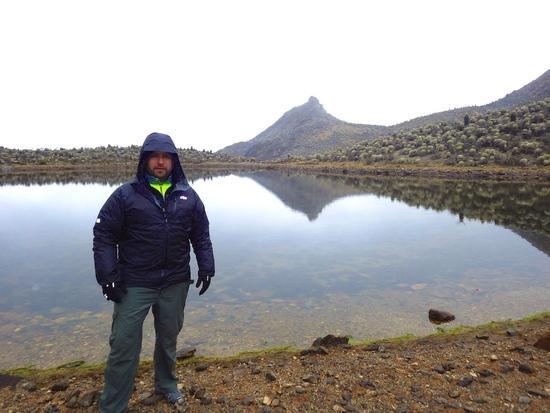 Laggon near the summit