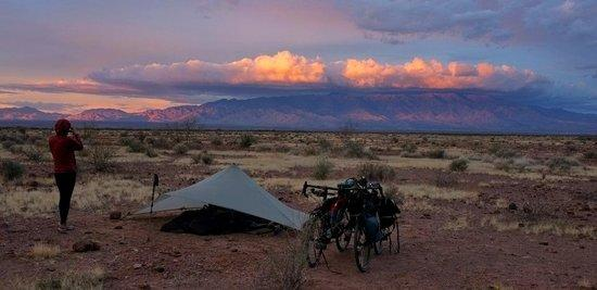 MLD Trail Star and bicycles in Arizona