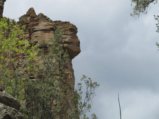 I call it Sphinx Rock  on the Gila R.  New Mexico