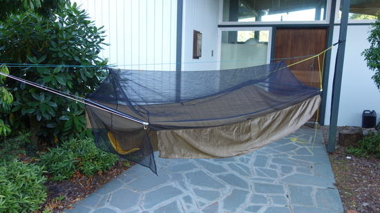 the small weight of the 1 1 oz ripstop helps keep the bug   down  each side skirt is about 9   x 84   which is 1 17 sq yards  u003d 1 28 oz      bridge hammock bug   version 0 1   backpacking light  rh   backpackinglight