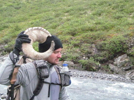 Daniel with Dall Sheep Horn