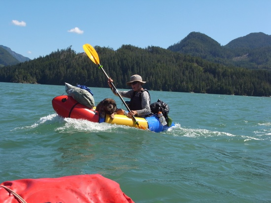 Following sea in a typical catabatic afternoon wind event. Nootka Sound.