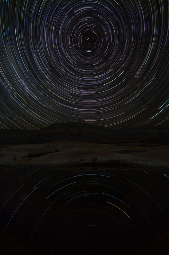Pothole star trails