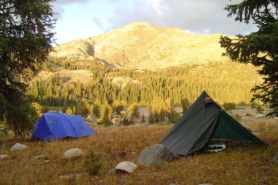 Camp in Wind River Mtns. 2005