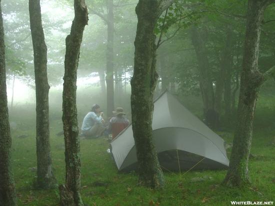 campsite on stone mountain