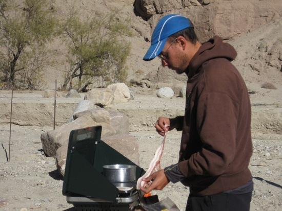 Joe cooking