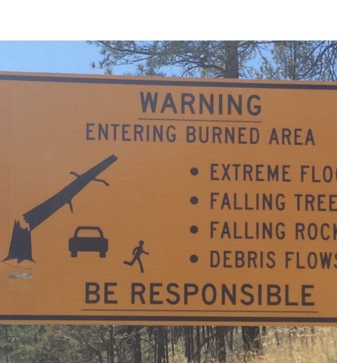 Warning sign ruidoso
