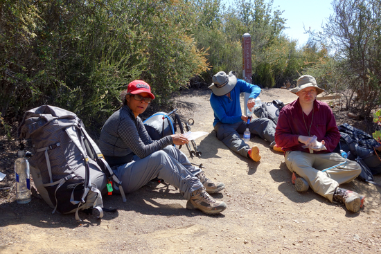 Snack Break at the Intersection of the Cougar Trail