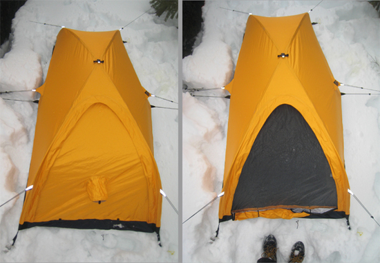 VSbI-_nF90Q Using a radical new concept the Wedge Bivy combines a low profile structural shape using curved Easton Aluminum poles with a ... & integral Designs Wedge Bivy made with event - Backpacking Light
